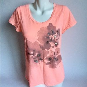 New J. Crew pink short sleeve t-shirt size M